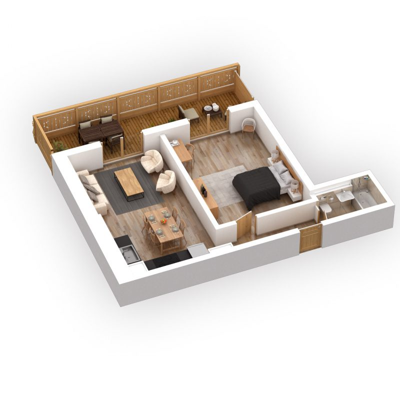 CONDOMINIUM ERMITAGE C10NEW APARTMENT AND FURNISHED IN THE  VILLAGE FITNESS, SAUNA AND CARNOTZET