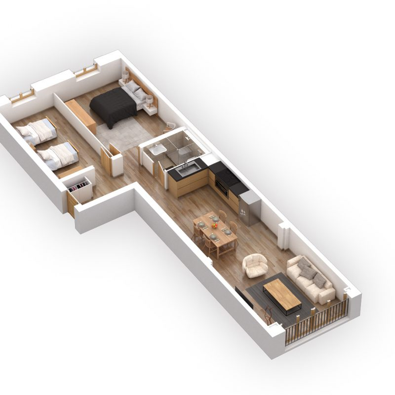 CONDOMINIUM ERMITAGE A20NEW APARTMENT AND FURNISHED IN THE  VILLAGE FITNESS, SAUNA AND CARNOTZET